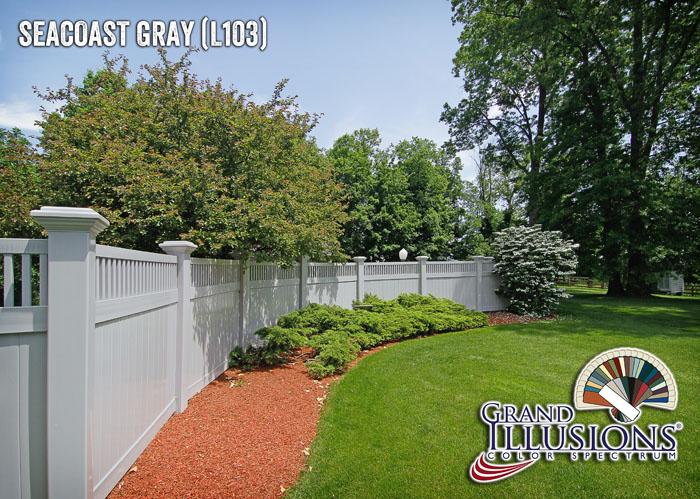 gray pvc vinyl fence