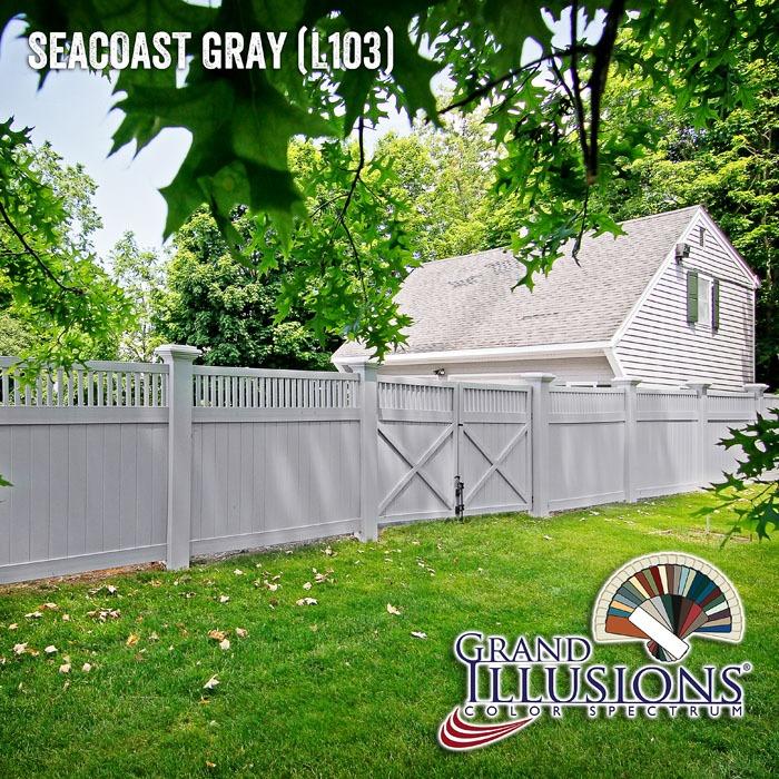 seacoast gray vinyl fence