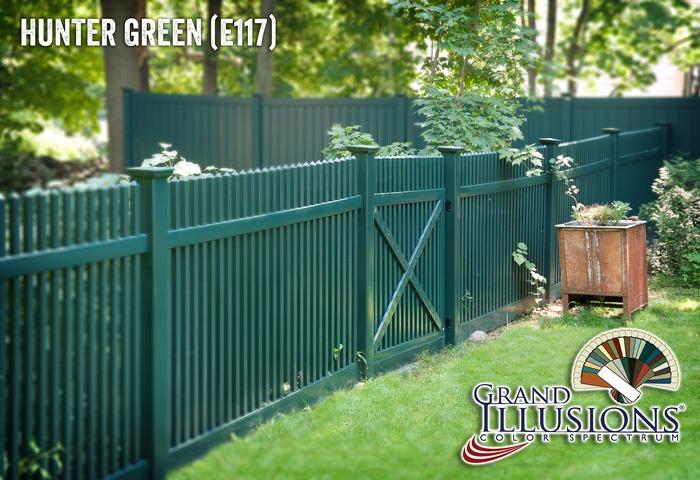 green pvc vinyl fence