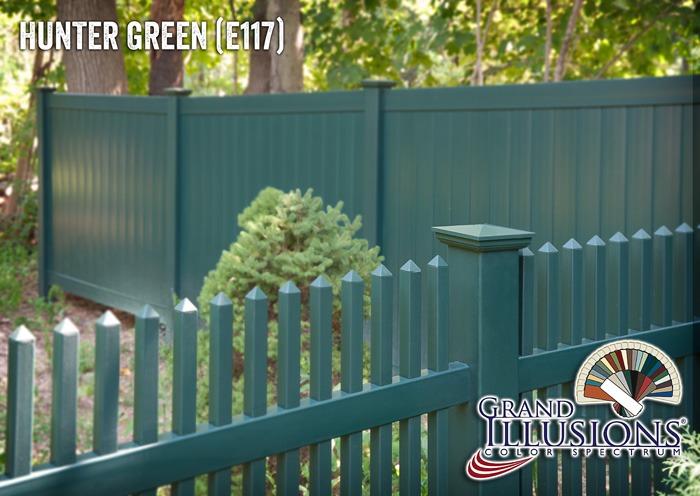 green vinyl fence