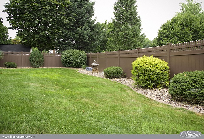Exellent Brown Vinyl Fencing Privacy Fence From Illusions N And Decorating