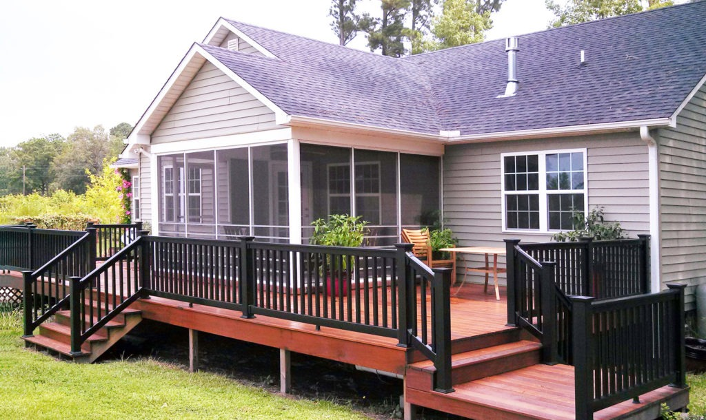 black illusions vinyl pvc deck railing