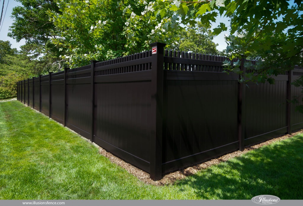 black vinyl fence images of illusions pvc vinyl wood grain and color fence 29105