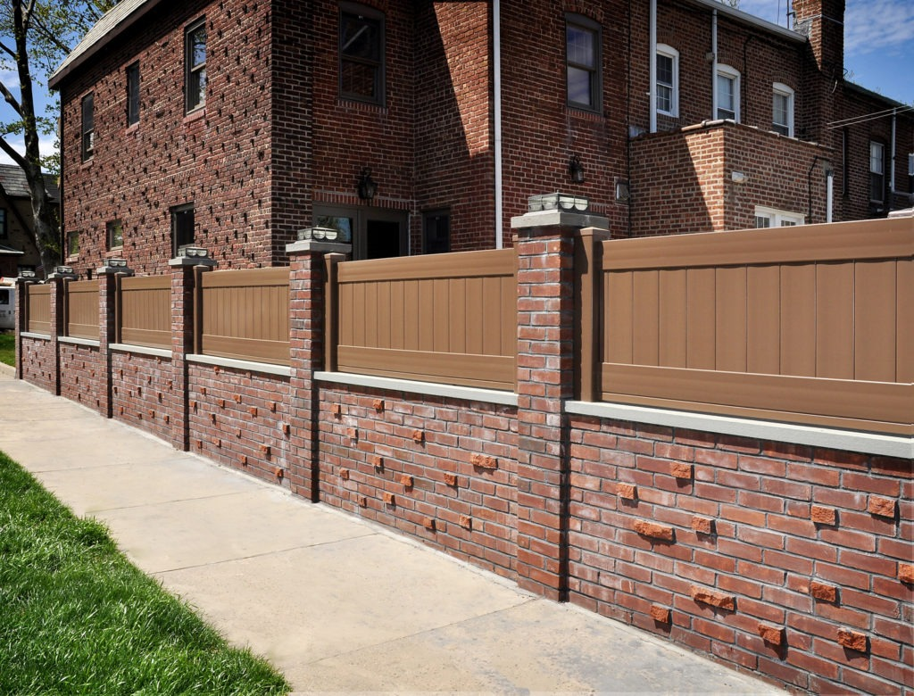 Looking for brown PVC vinyl fence? V300-6L106 Illusions Vinyl Tongue and Groove Privacy Fence shown in the Grand Illusions Color Spectrum Brown (L106). Illusions makes a great fence to put on a wall as well. #fenceideas #homeideas #yardideas