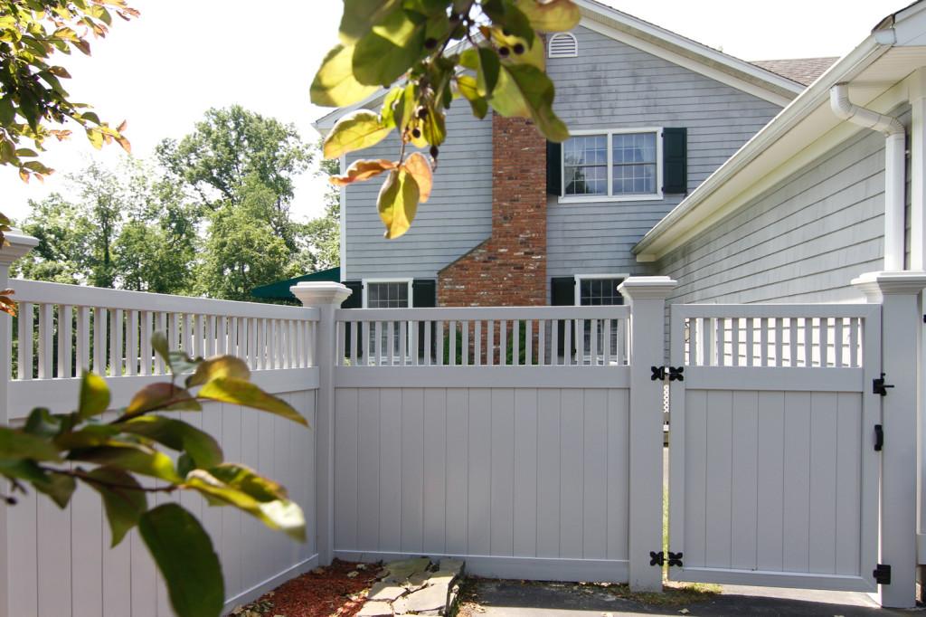 gray vinyl fence pics