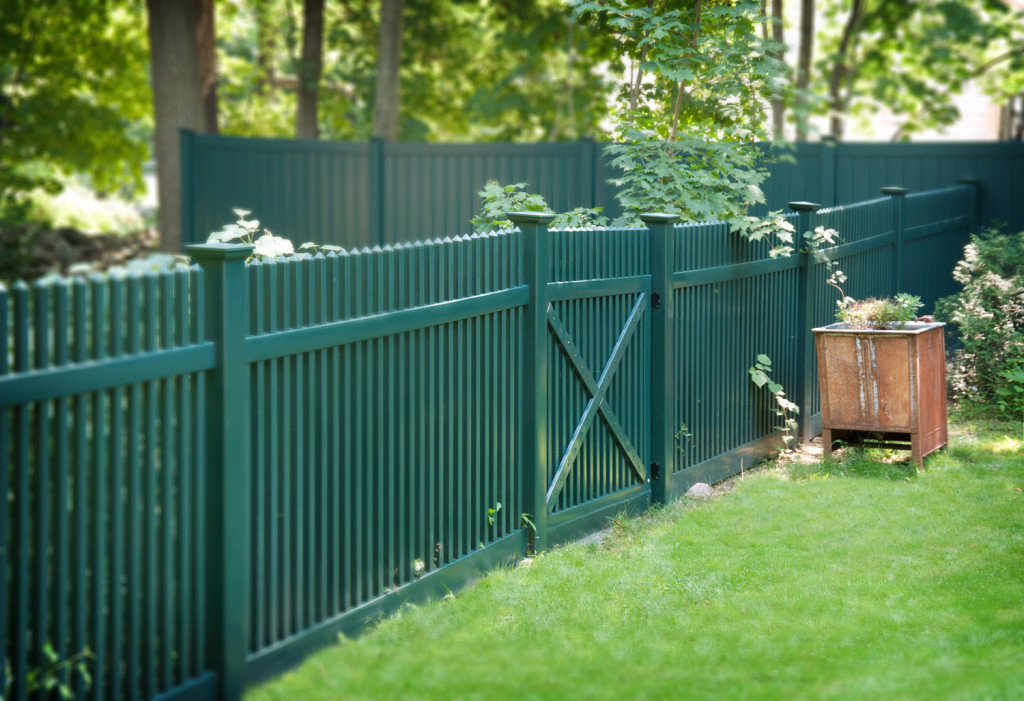 green pvc vinyl picket fence panels 4