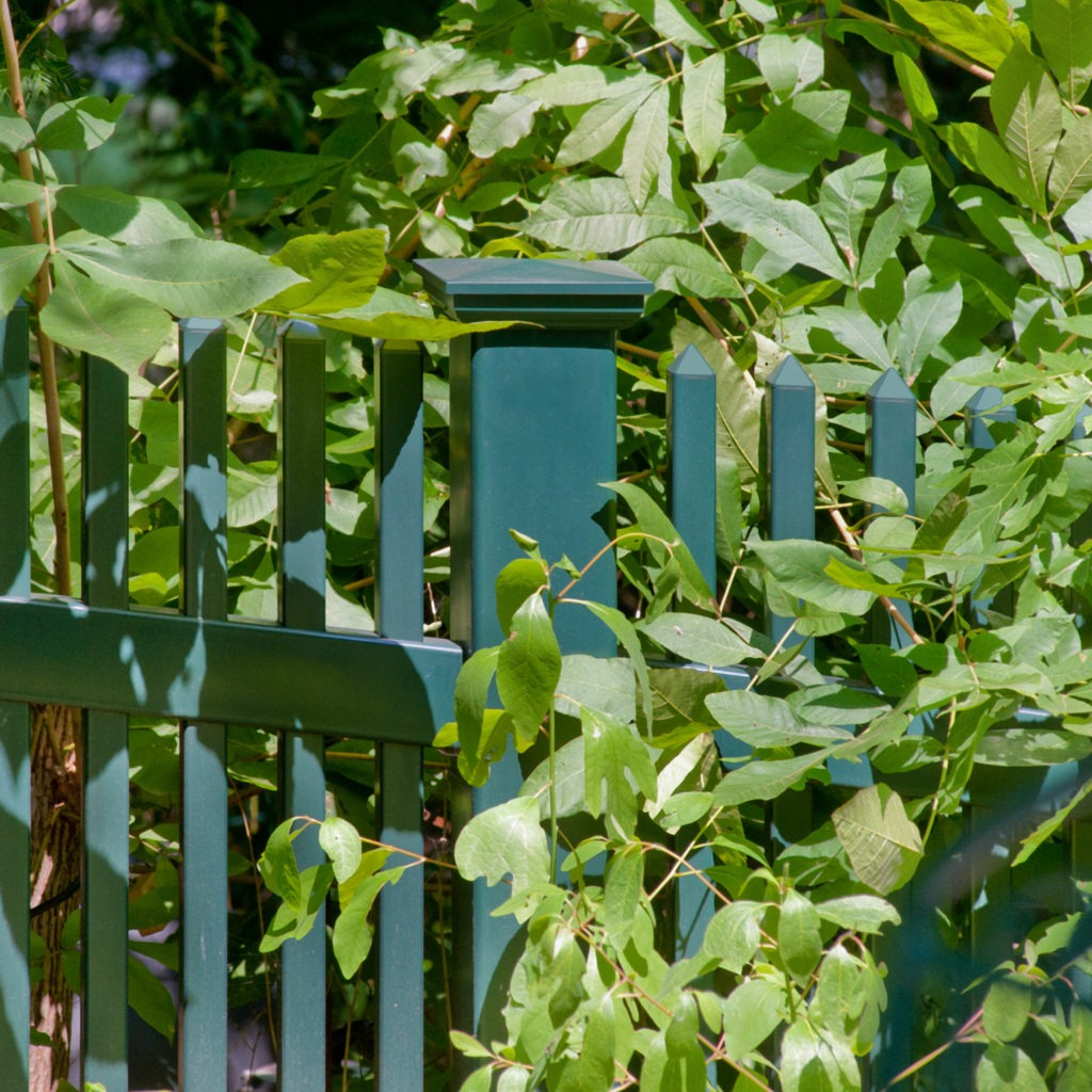 green pvc vinyl picket fence panels 5
