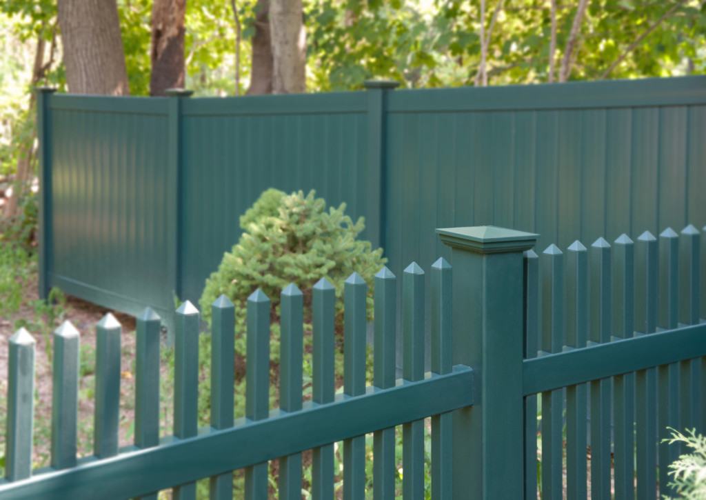 green pvc vinyl picket fence panels 6