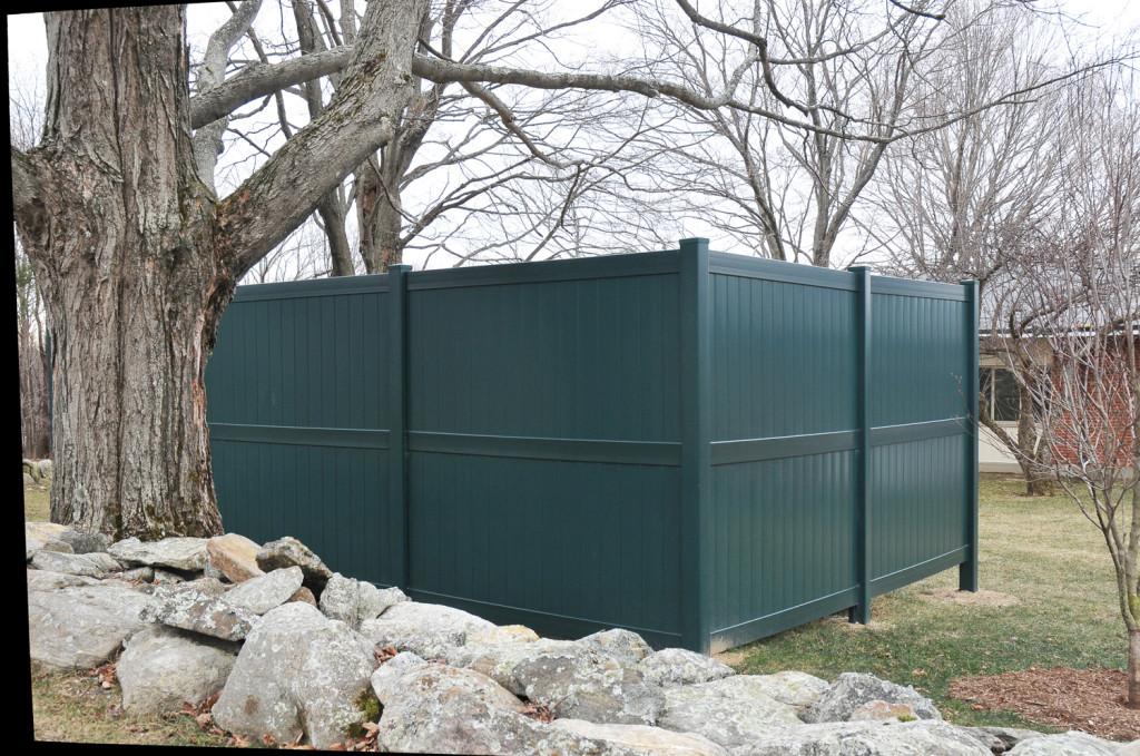 green vinyl pvc fencing panels7