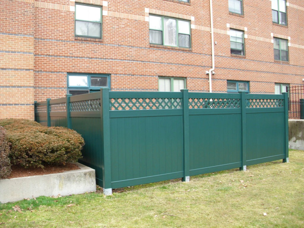 green vinyl pvc privacy fencing panels