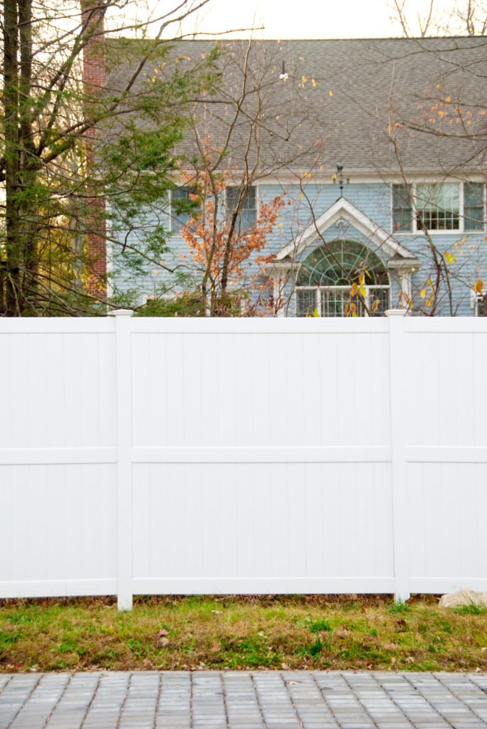illusions 8 foot high pvc vinyl privacy fencing panels