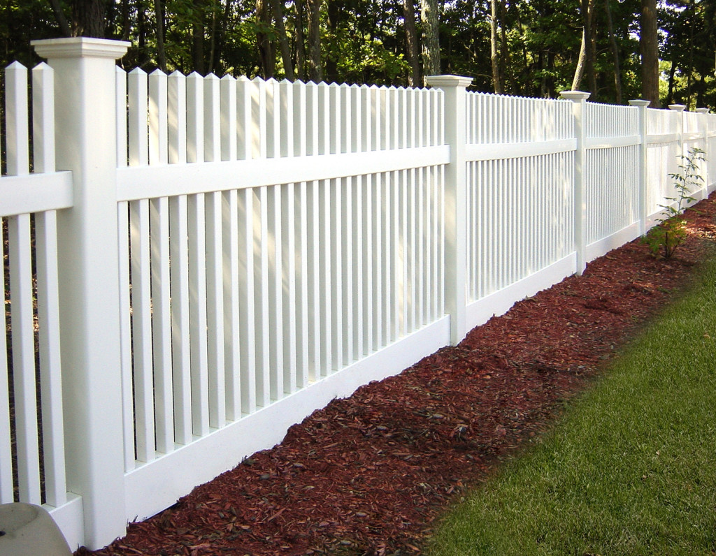 illusions PVC vinyl white picket classic victorian fence