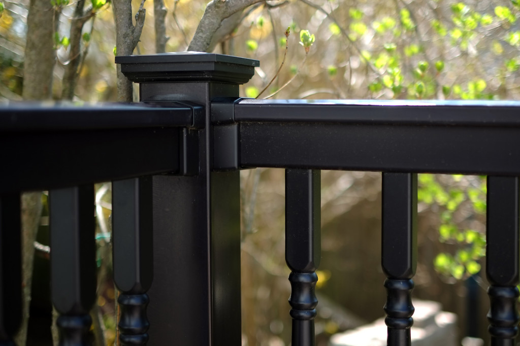 illusions black pvc vinyl deck railing