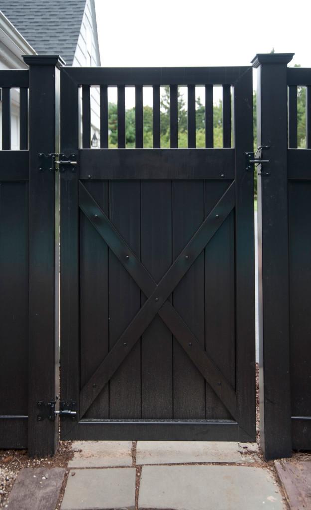 illusions black vinyl pvc privacy matte finish fencing gate