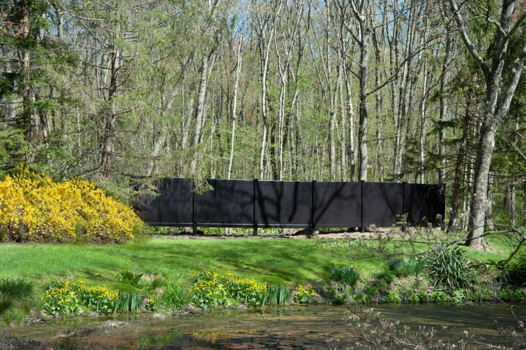 illusions black vinyl pvc privacy matte finish fencing panels 2