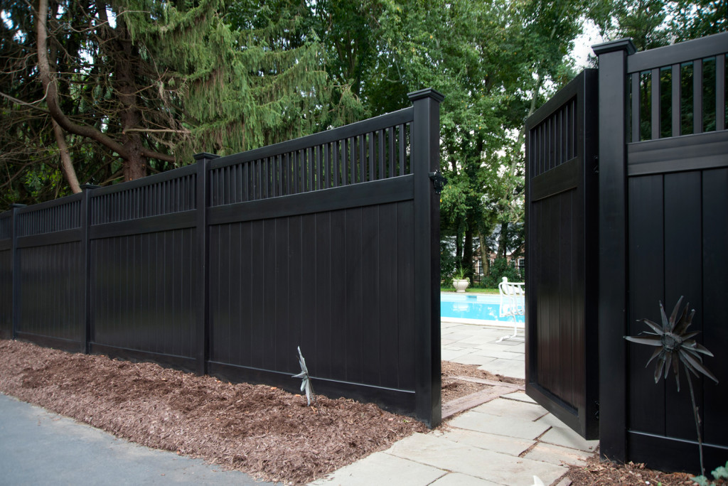 illusions black vinyl pvc privacy matte finish fencing panels 3
