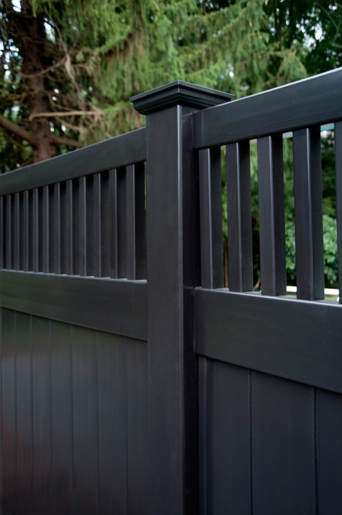 illusions black vinyl pvc privacy matte finish fencing panels 4