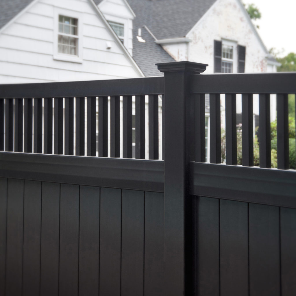 illusions black vinyl pvc privacy matte finish fencing panels 5