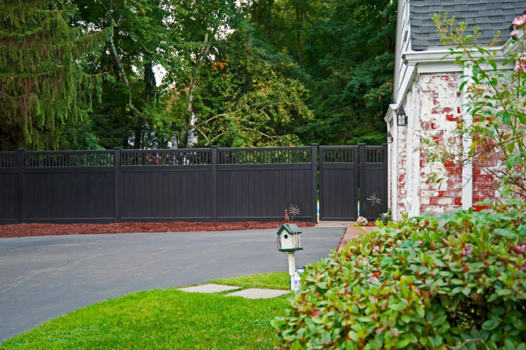 illusions black vinyl pvc privacy matte finish fencing panels 6