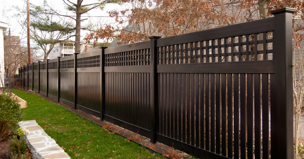 illusions-black-vinyl-pvc-semi-privacy-fencing-panels-1