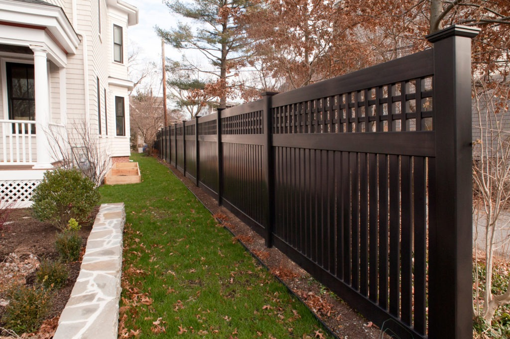 illusions black vinyl pvc semi privacy fencing panels 2