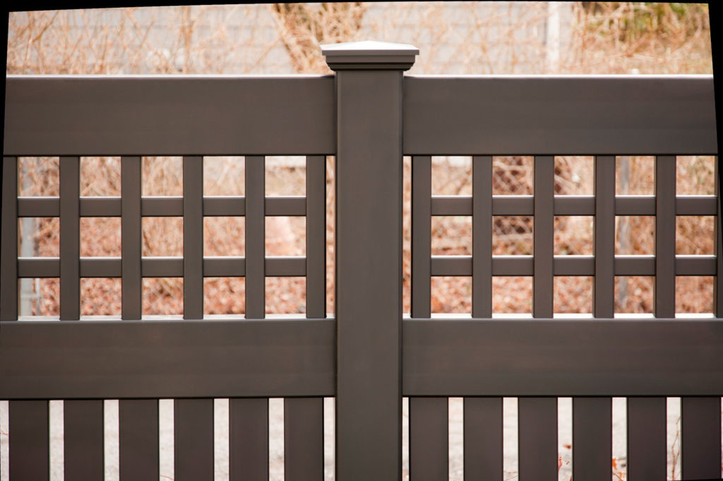 illusions black vinyl pvc semi privacy fencing panels 4