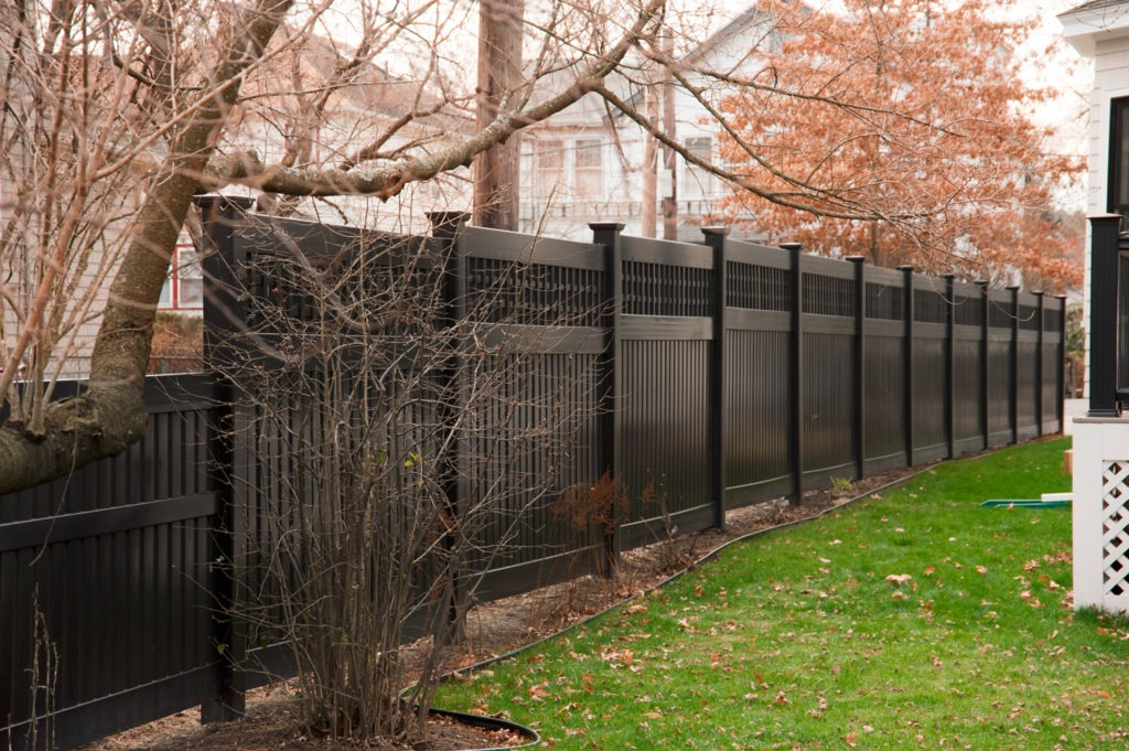 illusions black vinyl pvc semi privacy fencing panels 5