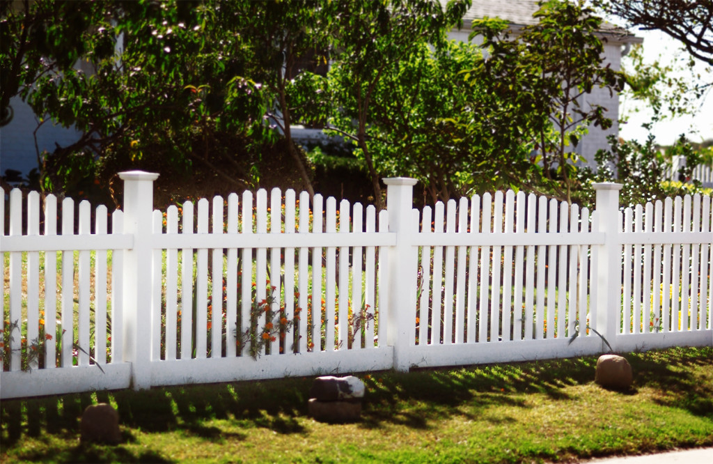 illusions contemporary pvc vinyl white picket fence arched panels
