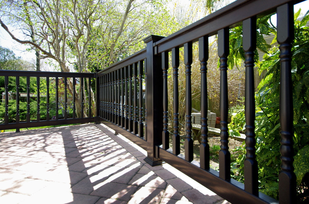 illusions pvc black deck railing panels