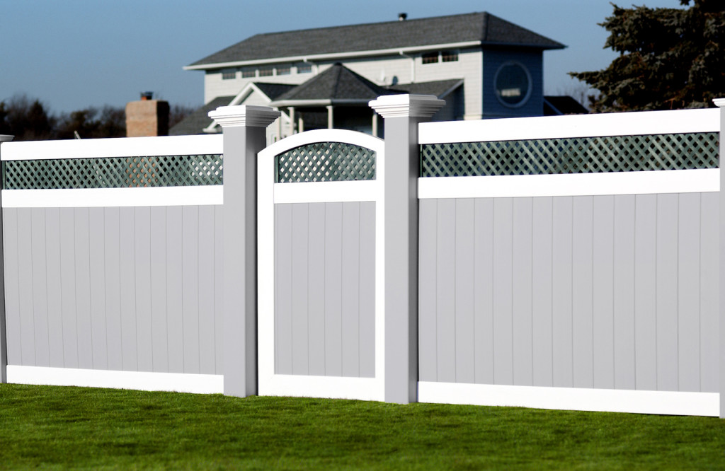 illusions pvc vinyl 8x8 inch posts gray white green fencing panels