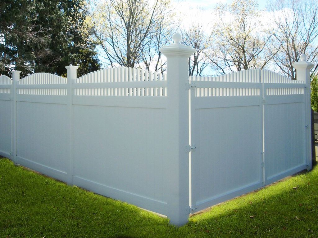 illusions pvc vinyl arched privacy panels in white 8x8 post