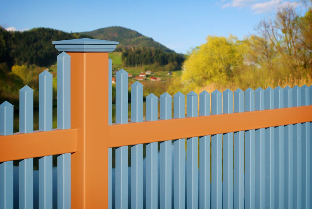 illusions pvc vinyl color picket fence panels