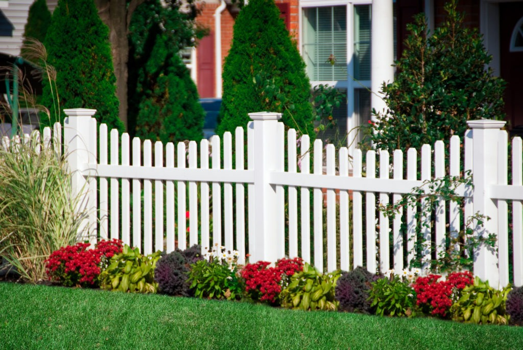 illusions pvc vinyl contemporary white picket fence panels