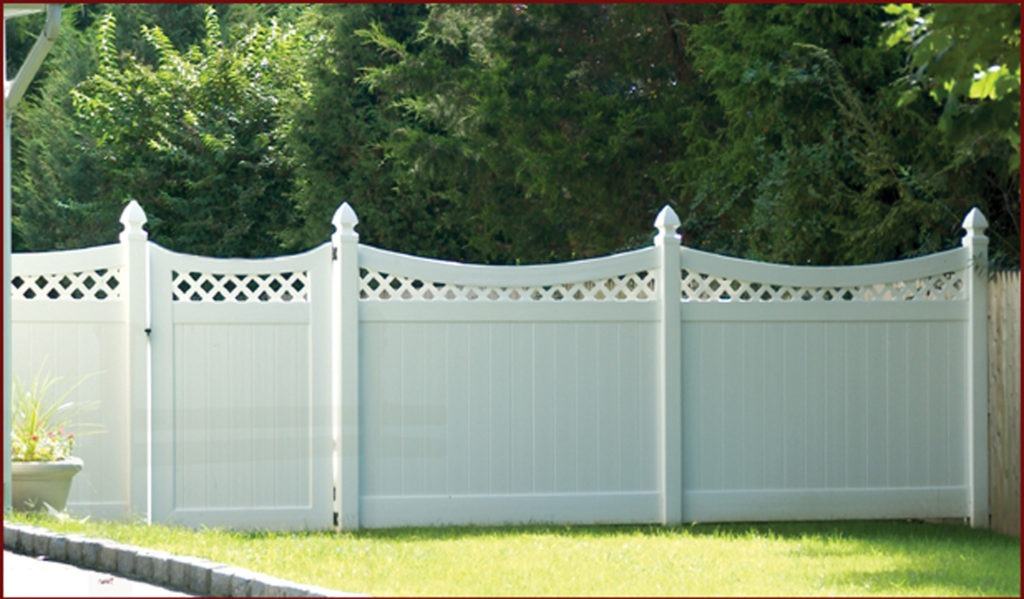 illusions pvc vinyl curved privacy fence panels and gate