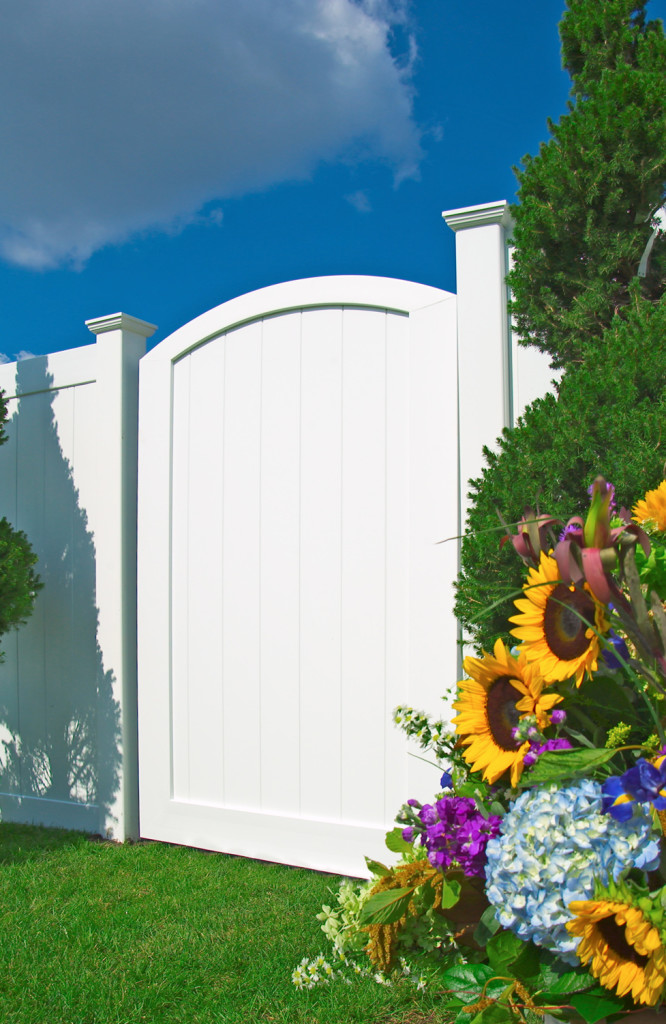 illusions pvc vinyl fence gate arched