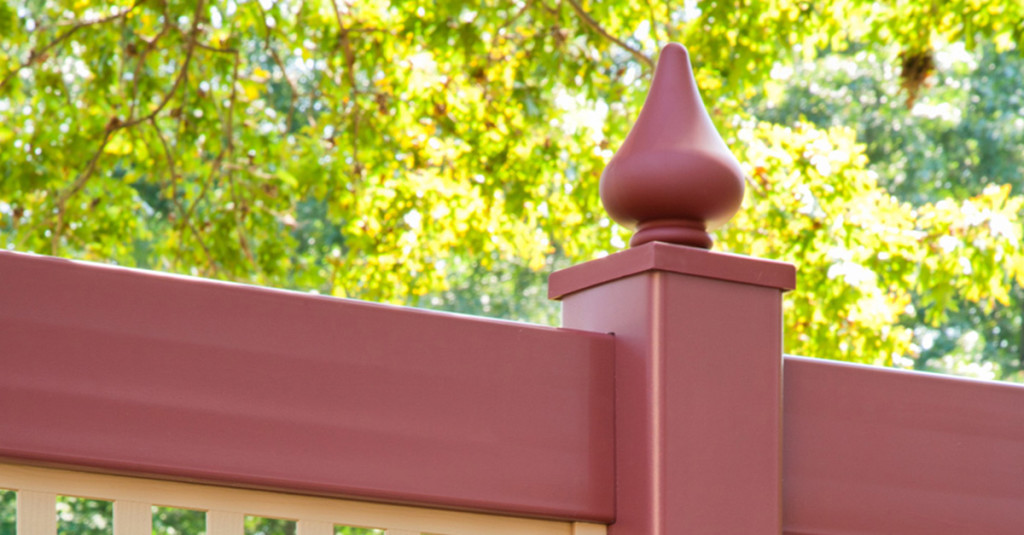 illusions-pvc-vinyl-privacy-fence-in-red-and-tan-sections