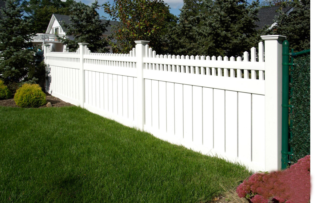 illusions pvc vinyl semi privacy style fencing sections