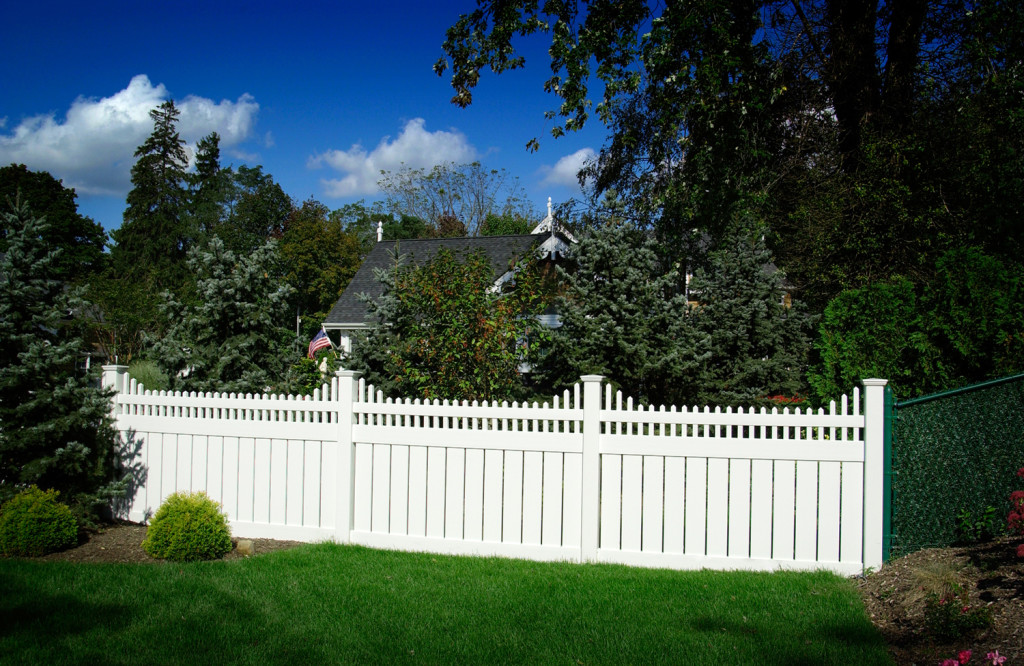 illusions pvc vinyl semi privacy style white fencing panels