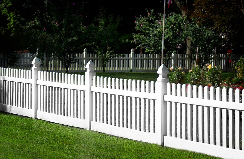 illusions pvc vinyl white picket fence panels