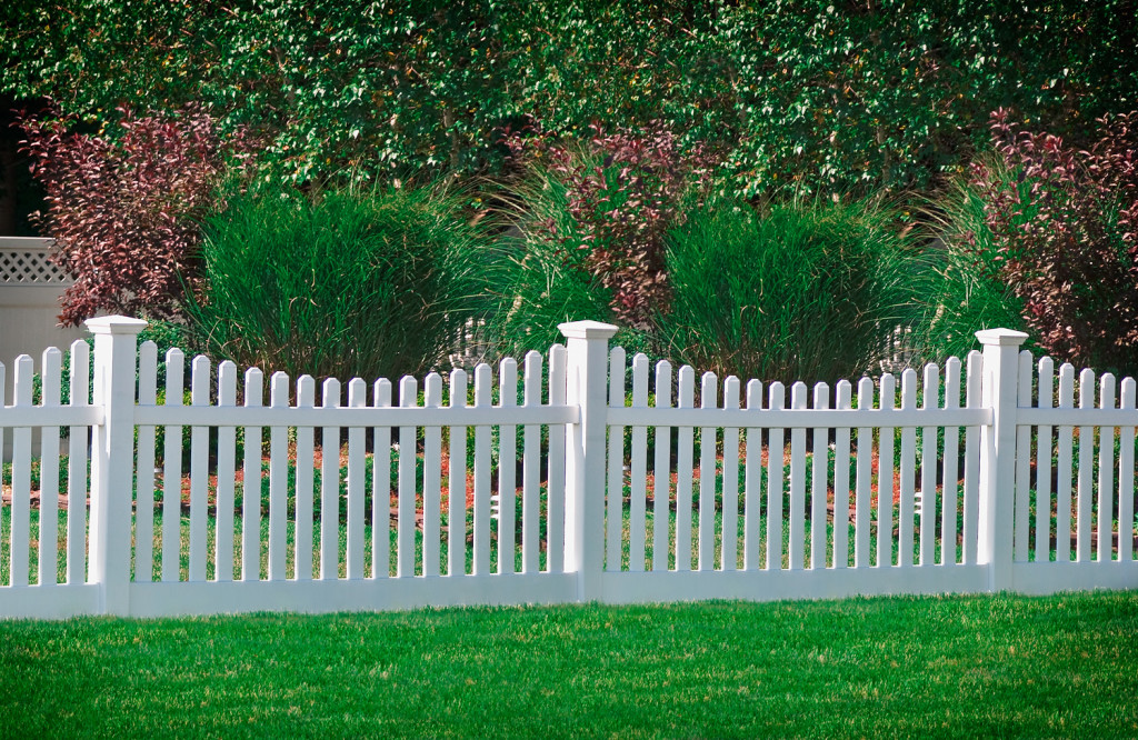 illusions pvc vinyl white picket fence panles