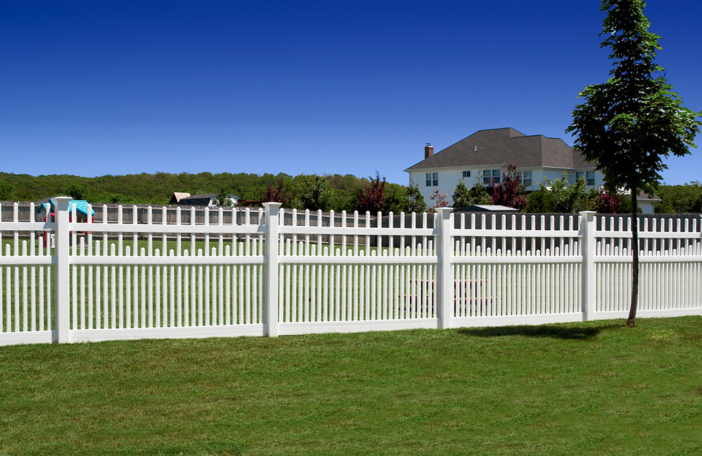 illusions pvc vinyl white picket scalloped picket fencing panels