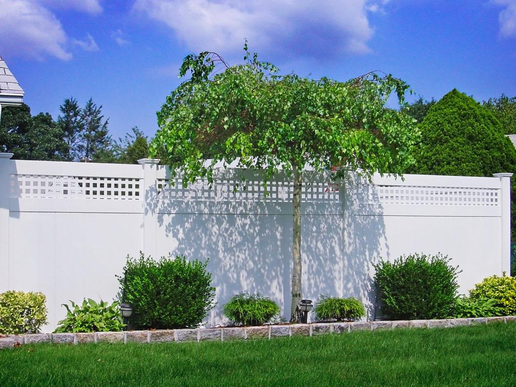 illusions pvc vinyl white privacy fence lattice topper square