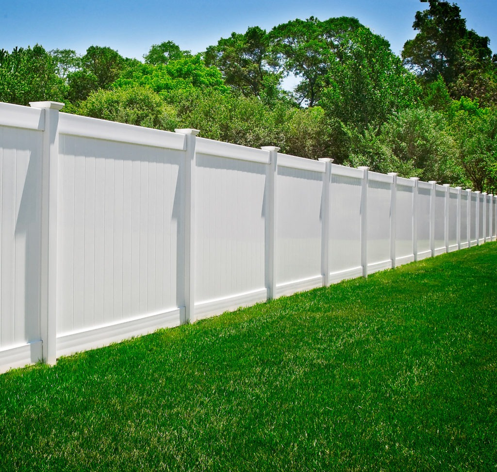illusions pvc vinyl white privacy fence sections