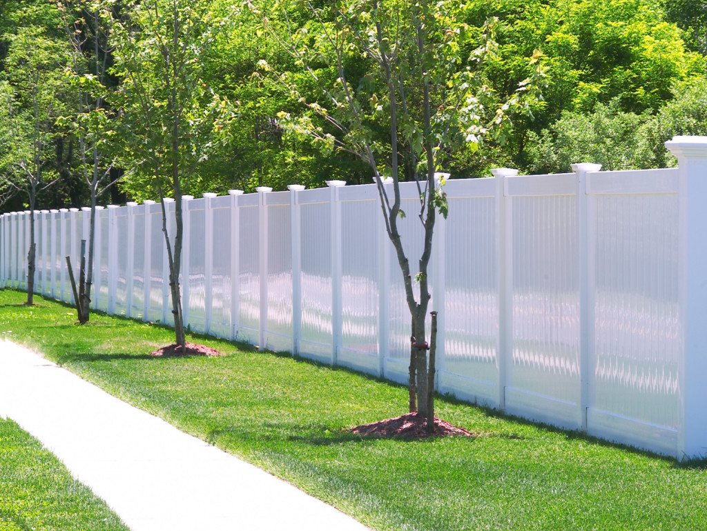 illusions pvc vinyl white privacy fencing panels