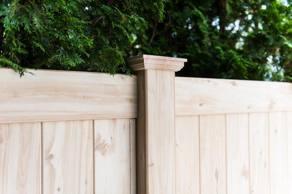 illusions pvc vinyl wood grain fencing panels 6