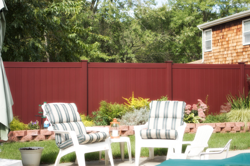 illusions red pvc vinyl fence backyard idea