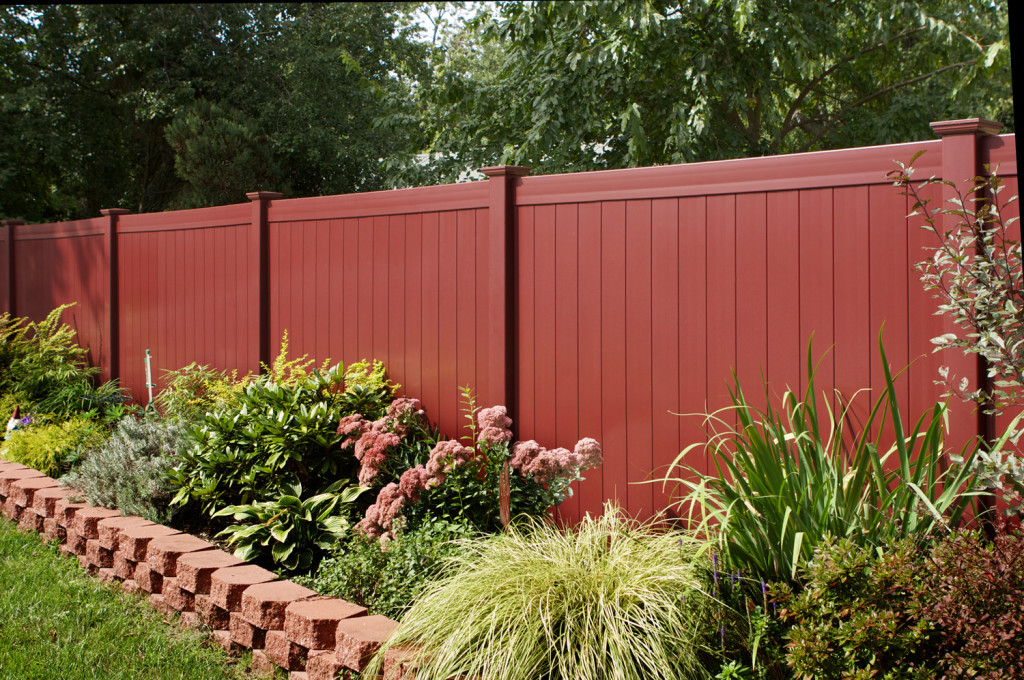 illusions red pvc vinyl privacy fence panels