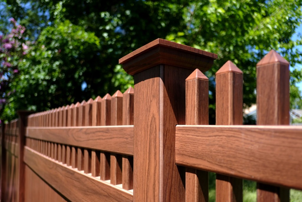 illusions rosewood vinyl fence
