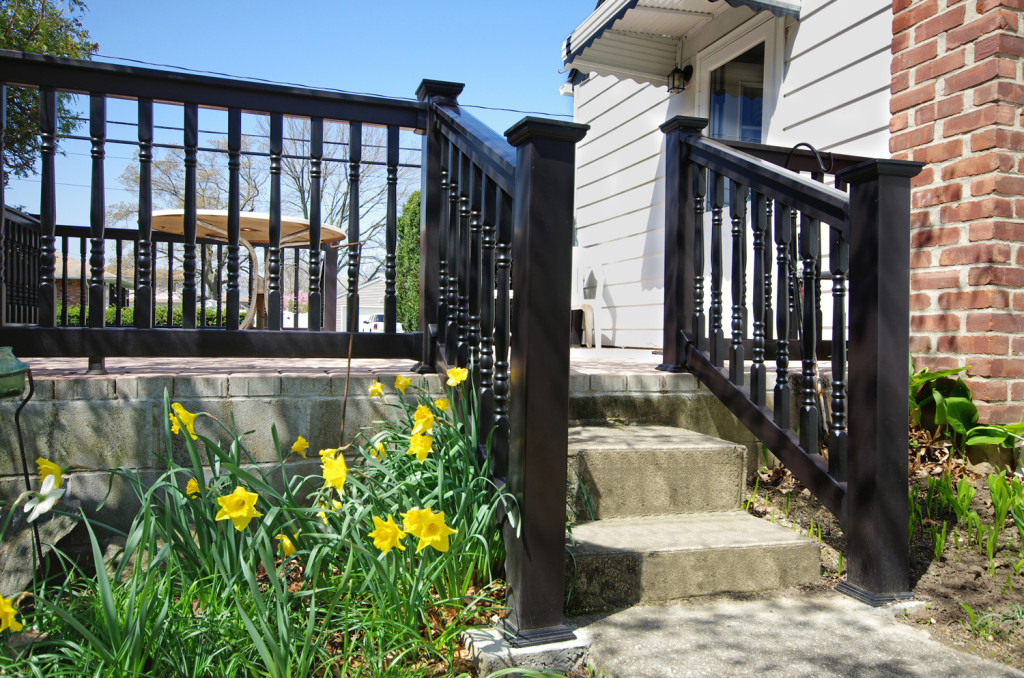 illusions vinyl pvc black deck railing