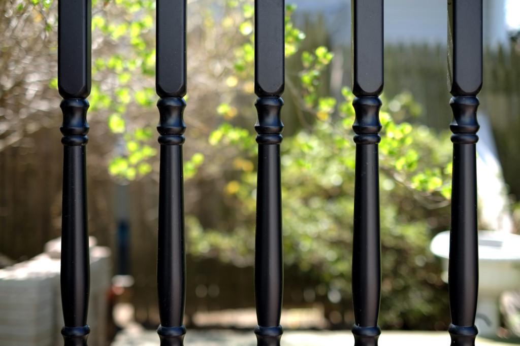 illusions vinyl pvc deck railing balusters black